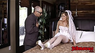 Blonde bride Zoey Monroe taking a hole massive black dick