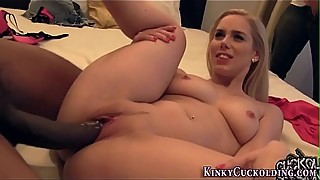 Blonde bbc facialized