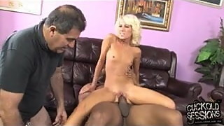 Tiny slut Alexia Skye creampied by BBC in front of cuckold