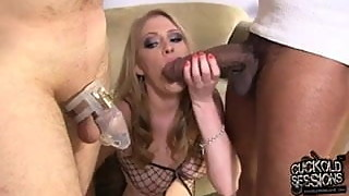 Sweet Allie James owned by BBC right on the cuckold husband