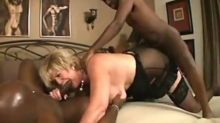 Granny gets pounded by 2 BBC