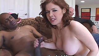 Red Hairy Muff Stuffed With Stranger'_s Cock