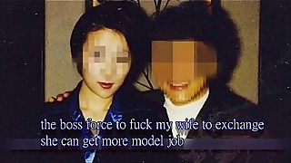 the boss forced to fuck my wife to exchange she can get more model job