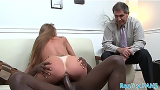 Mature slut rides bbc in front of her hubby