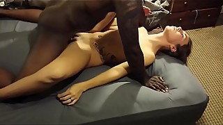 Wife fuck her first bbc for hubby while he films