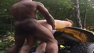 Slut wife used by bull in the woods