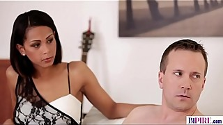 Ebony girlfriend cuckolded her bisexual boyfriend - Isabella Chrystin, Nick Gill and Georgio Black