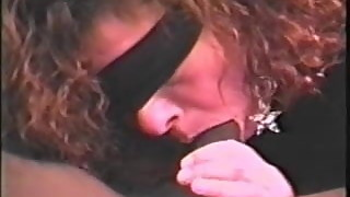 Blindfolded wife swallows black cum #2