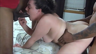 Slut wife gets 2 BBC