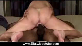 Swinger Slut Wife Creampied by Young Black Lover www.Slutwivestube.com