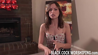 Watch me treat myself to a huge black cock