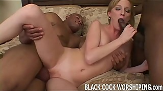 Watch me get completely filled with big black cock